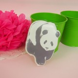 Big Sticker Panda Bear Design 10 types Solid Sticker