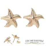 Gold Star Fish Pierced Earring