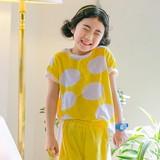 【100cm~150cm】COOLレモンドット上下SET・JPUSE02