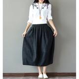 【再入荷】ナチュラル素材ふんわりスカート