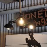 ウッド&アイアン3灯ランプ
