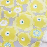 【生地】【布】【オックス】 Verna - yellow 50cm単位でカット販売