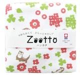 【日本製】今治タオル カワウソ さんぽ  ガーゼハンカチ アニマル < Zooto >