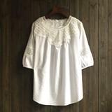 2017 S/S Natural Lace Design Cotton Tunic