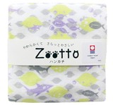 【日本製】今治タオル さめ レモン  ガーゼハンカチ アニマル < Zooto >