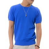 Summer Knitted Short Sleeve T-shirt