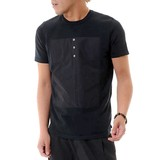 Summer Knitted Switching Short Sleeve T-shirt