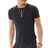 Knitted Henry Short Sleeve T-shirt