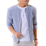 Non-colored Stripe Half Length Shirt