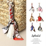 Scarf Tassel Design Ribbon Bag Charm Key Ring