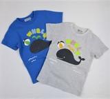 【BAB CHIP】空紡天竺 クジラ柄  半袖Tシャツ