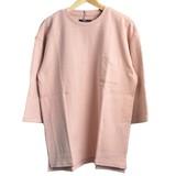 【2017春夏新作】【TESS】ビックシルエット7分袖Tシャツ