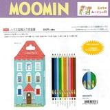【予約販売】7月10日締切 ムーミンハウス型入り色鉛筆 colored pencils MOOMIN House design