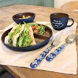 【新商品】新しくなったワンダフルシリーズ 厚みのある木目調の食器 ラウンドプレート 日本製
