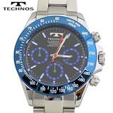 【TECHNOS】 テクノス クロノグラフ腕時計 TSM401SN