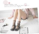 【春夏新作socks】通気性が良くシースルーソックス 爽やか 宝くじ 婦人