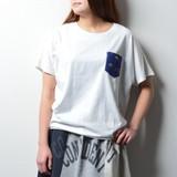 2017 S/S Ladies Fleece Fruit Pocket Short Sleeve T-shirt