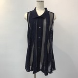 Net Material Flare Attached Vest