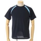 吸汗速乾! スポーティーな切替半袖Tシャツ 2柄 3色