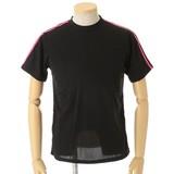 吸汗速乾! 2本ライン半袖Tシャツ スポーティーな6色