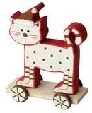 ≪2017クリスマス先行≫☆クリスマス/オブジェ☆カートに乗る猫ちゃん