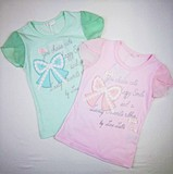 Ribbon Applique Short Sleeve T-shirt