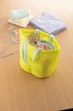 まるごと洗える仕切り付洗濯バッグ /分別 洗濯 干す作業が一つでできる ランドリーバッグ