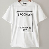 【2017春夏新作】BROOKLYN 綿 100% クルーネック 半袖 Tシャツ