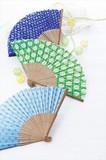 日本の伝統柄 扇子 /夏 涼 祭 ノベルティ