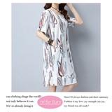 2017 S/S Print Design Material One-piece Dress