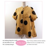 2017 S/S Dot Design Stand Color Blouse