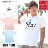 【imp】ピグメント加工半袖クルーネックプリントTシャツ