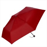 折りたたみ傘(55cm×6本骨耐風仕様)(レッド)/名入れ可 梅雨 軽量 耐風 低価格 ノベルティ