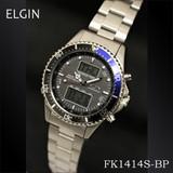 エルジン ワ−ルドタイムソーラー電波ウォッチ FK1414S-BP