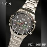 エルジン ワ−ルドタイムソーラー電波ウォッチ FK1416S-BP