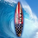 【ウッド サーフボード プラーク サーフィン U.S.A】CA115188