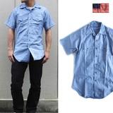 U.S.(アメリカ製) シャンブレーシャツ コットン 80'S 半袖