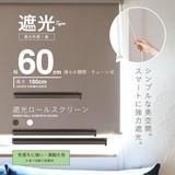 【SIS卸】◆NEW◆ロールスクリーン◆遮光◆幅60cm◆3カラー◆