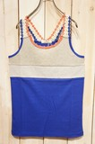 2017 S/S Jersey Stretch Switching Material Tank Top