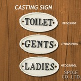 CASTING SIGN TOILET GENTS LADIES【店舗】【ガーデン】【サインプレート】