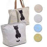 ねこ柄ハンドバッグ【カジュアルスパンコールキャット】猫 低価格帯