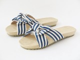 Ribbon Attached Soft Cushion Resort Sandal