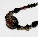 Floral Pattern Japanese Style Color Beads Design Necklace