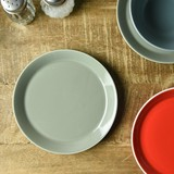 Color Flat Plate Gray MINO Ware