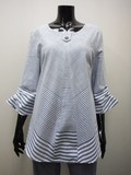 Leisurely Cotton Wide Border Switch Tunic