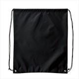 巾着&バックパック(黒) /名入れ可 トラベル アウトドア ナップザック 非常持出袋 ノベルティ