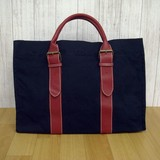 Outlet Artificial Leather Handle Canvas Tote