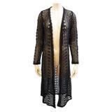 2017 S/S Stocks Long Cardigan Lace Robe