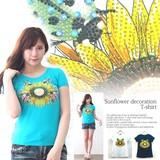 2017 Summer Sunflower Decoration T-shirt