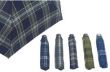 Men's Folding Umbrella Checkered Pattern